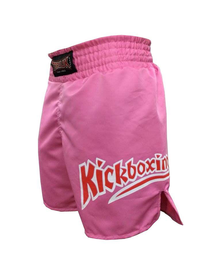Calção / Short Kickboxing - K1- Quadrado - Rosa - Toriuk