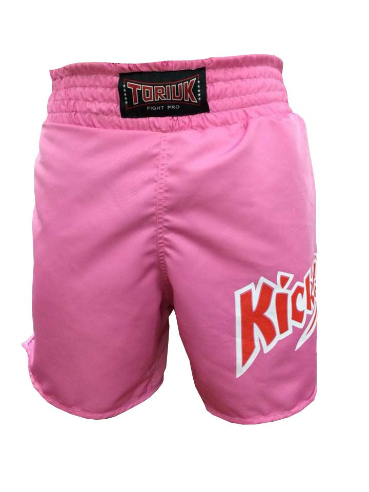 Calção / Short Kickboxing - K1- Quadrado - Rosa - Toriuk  - Loja do Competidor