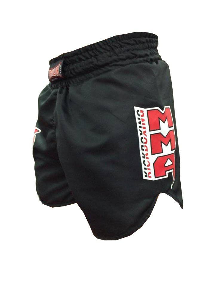 Calção / Short Kickboxing - Kicks MMA - Cavado- Preto - Toriuk .