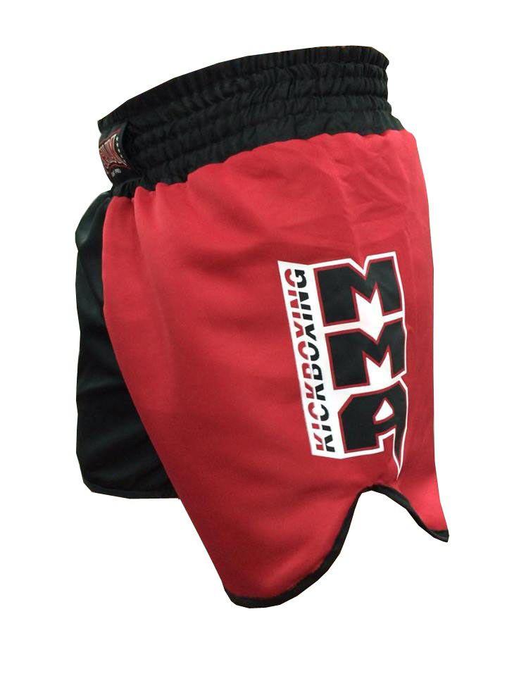 Calção Short Kickboxing Kicks MMA - Cavado - Preto/Verm - Toriuk  - Loja do Competidor