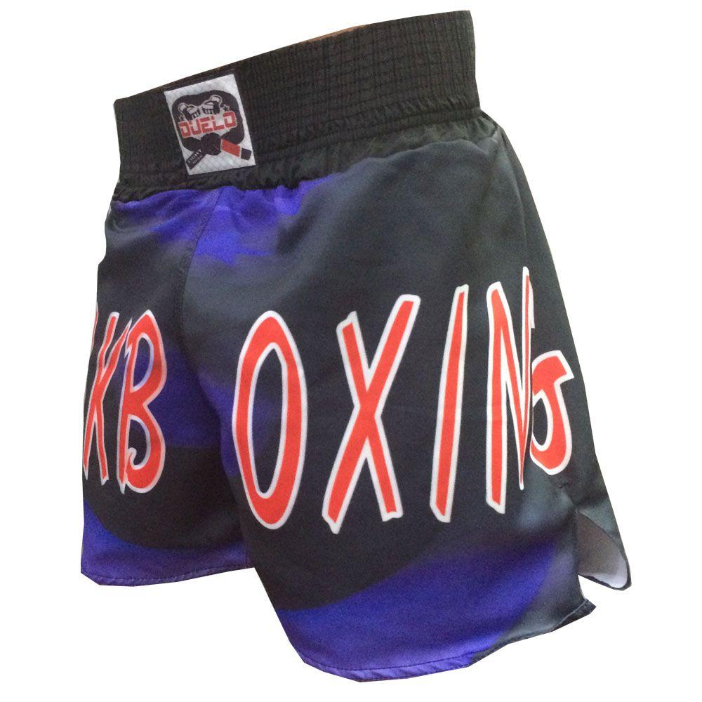 Calção Short Kickboxing - Masked - Cavado - Duelo Fight  - Loja do Competidor
