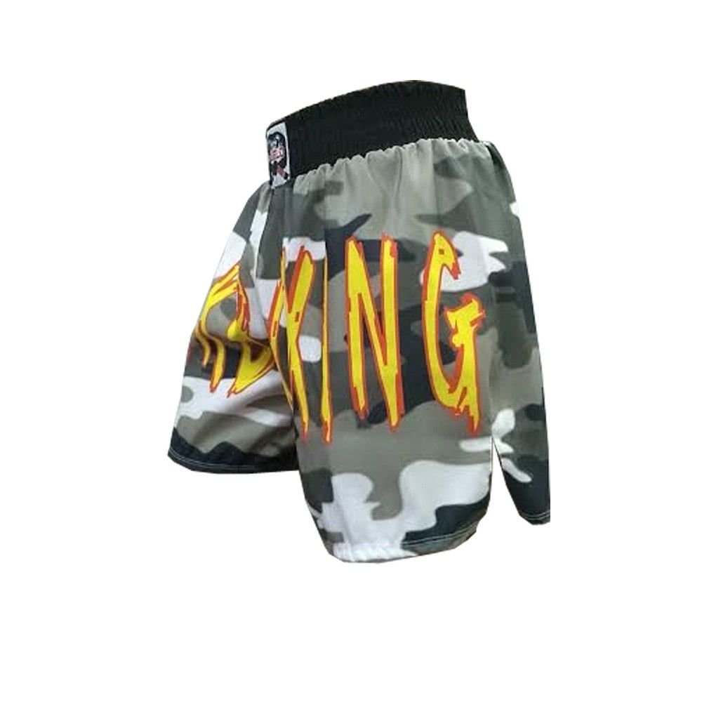 Calção Short Kickboxing - Military - Cavado - Camuflado - Duelo Fight -