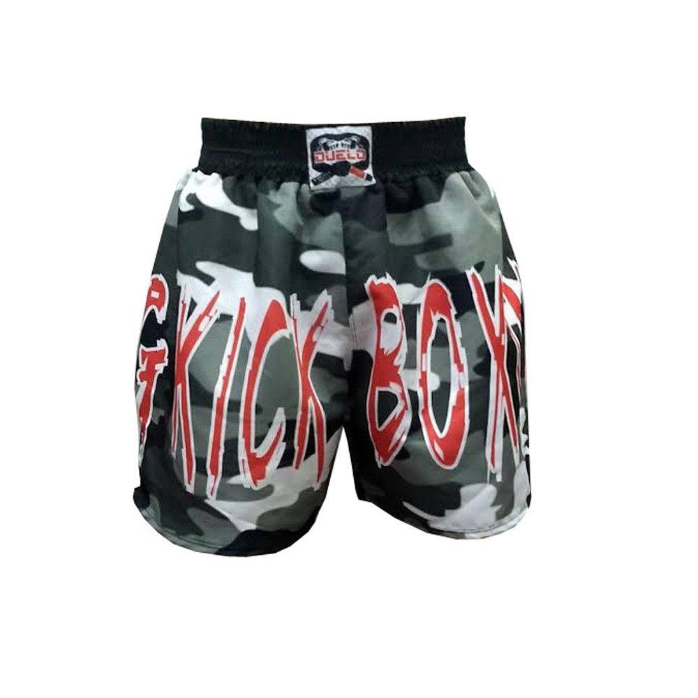 Calção Short Kickboxing - Military V2 - Camuflado - Duelo Fight -