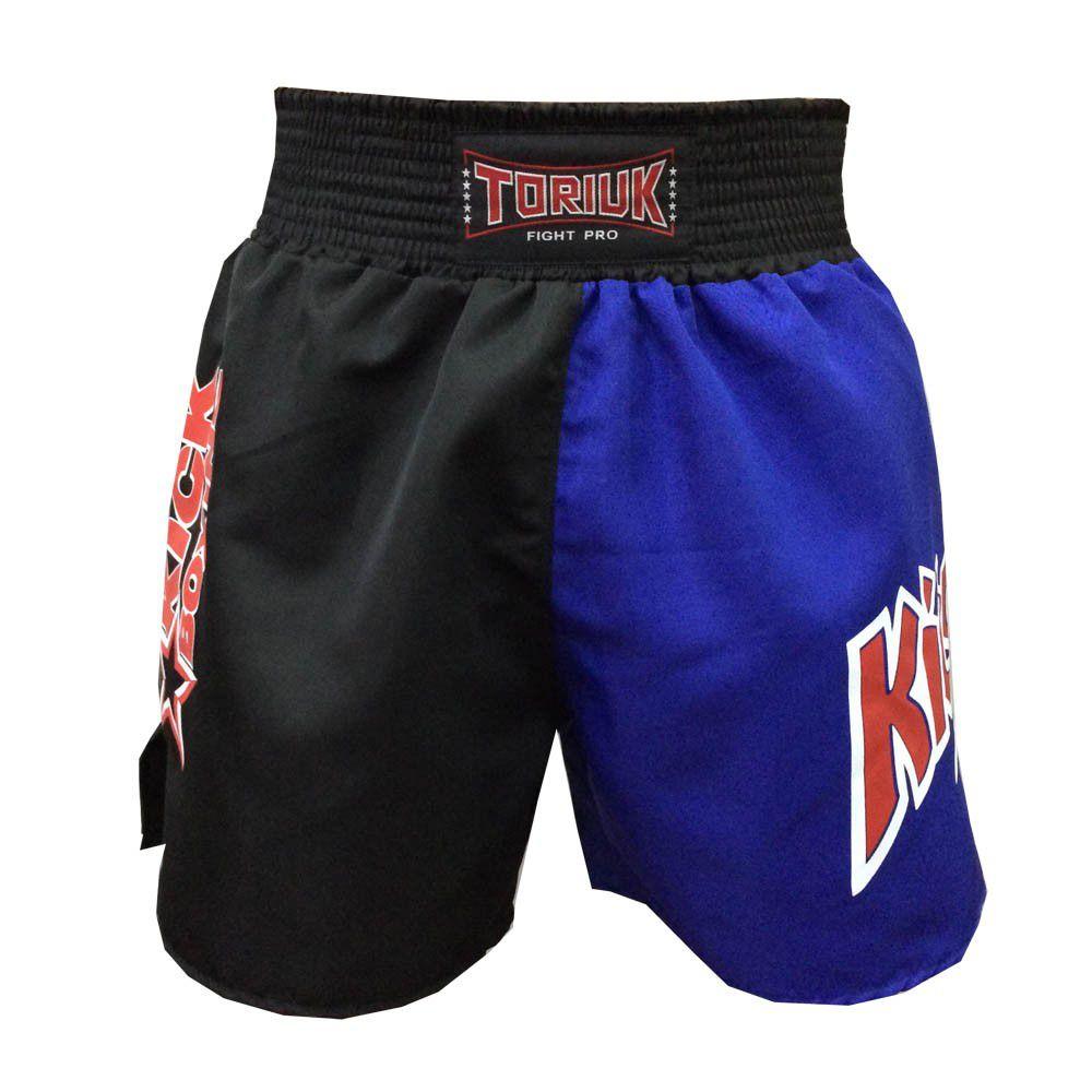 Calção Short Kickboxing - New K1 - Preto/Azul- Toriuk -  - Loja do Competidor