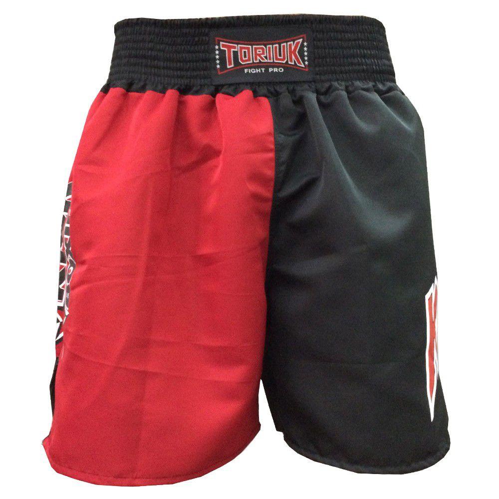 Calção Short Kickboxing - New K1 - Preto/Vermelho - Toriuk -  - Loja do Competidor