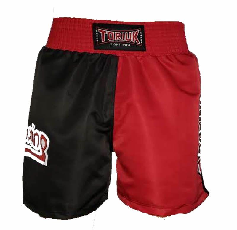 Calção Short Kickboxing New K1 - Preto/Vermelho - Toriuk  - Loja do Competidor
