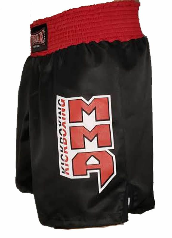 Calção Short Kickboxing New Kicks MMA - Preto Cintura Vermelha - Toriuk  - Loja do Competidor