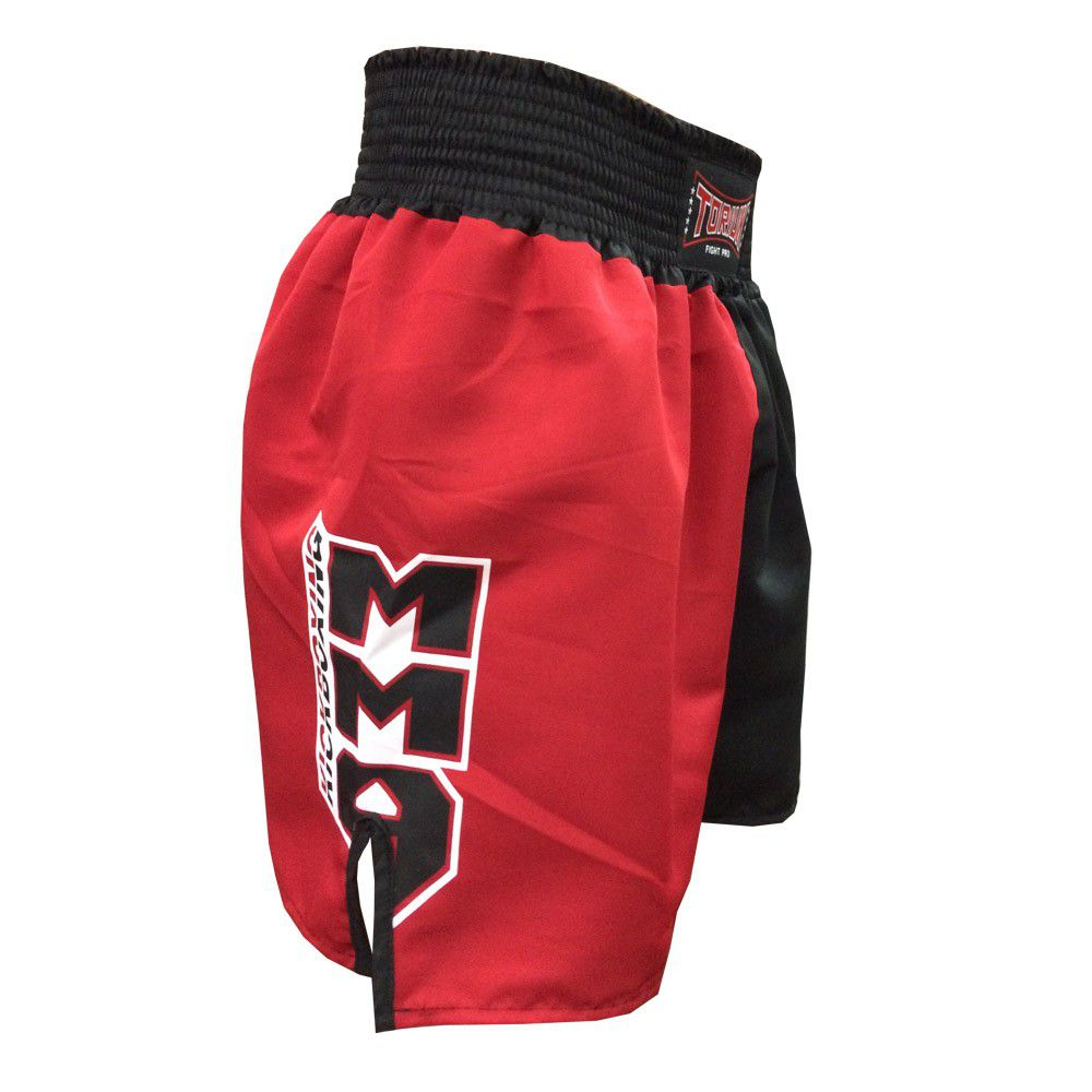 Calção / Short Kickboxing - New Kicks MMA - Preto/Vermelho - Toriuk  - Loja do Competidor