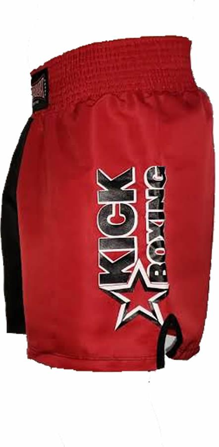Calção Short Kickboxing New Starfighter- Preto/Verm Cintura Verm - Toriuk  - Loja do Competidor