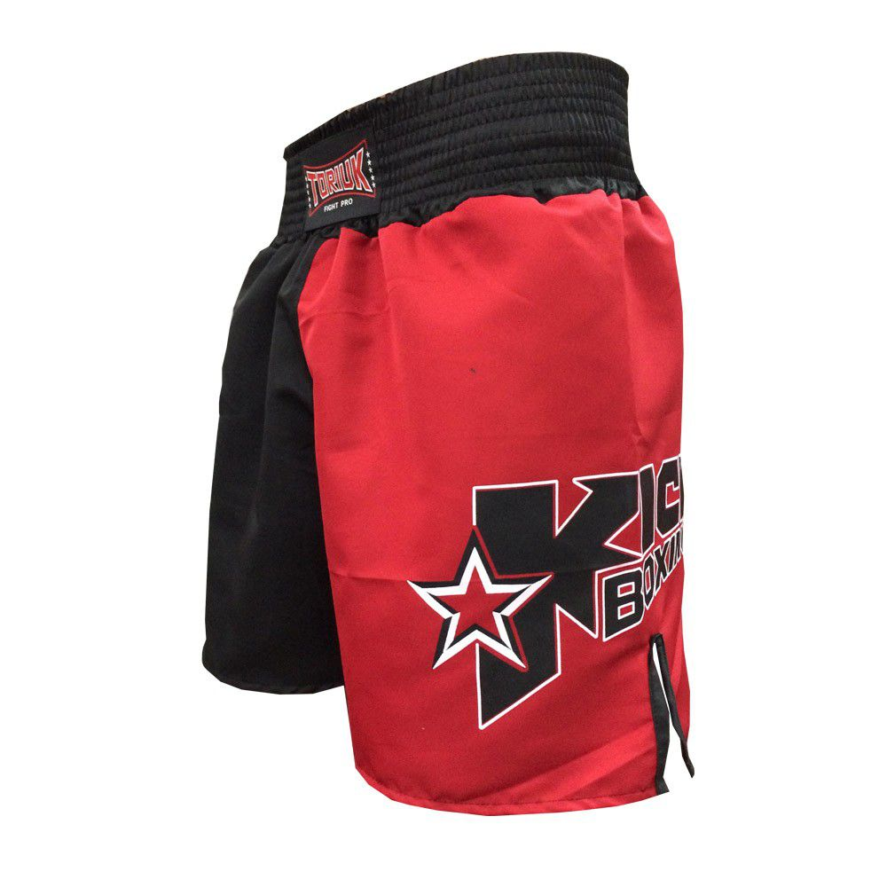 Calção Short Kickboxing - New Starfighter- Preto/Verm - Toriuk -