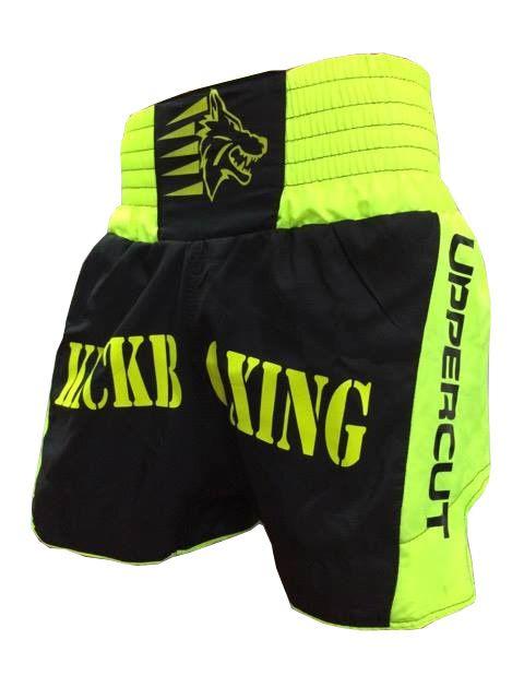 Calção / Short Kickboxing  - Premium - Preto/Verde- Uppercut  - Loja do Competidor