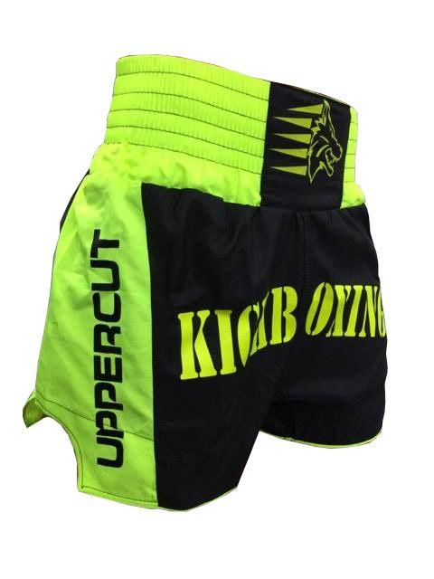 Calção Short Kickboxing  - Premium - Preto/Verde - Uppercut -  - Loja do Competidor
