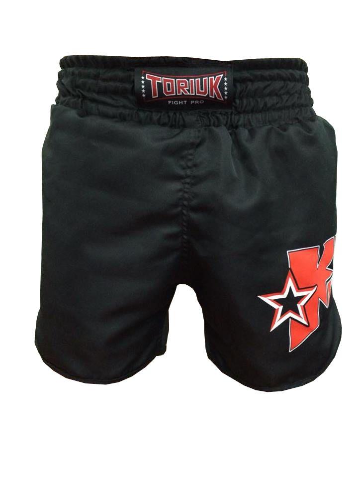 Calção / Short Kickboxing - Starfighter- Cavado - Preto - Toriuk .  - Loja do Competidor