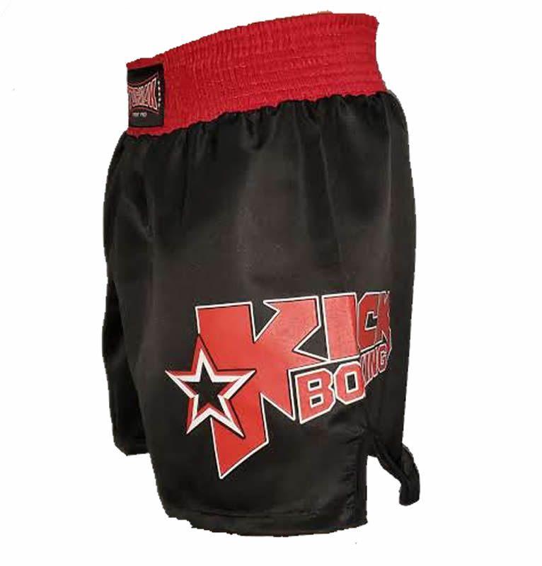 Calção Short Kickboxing Starfighter Preto Cintura Vermelha - Toriuk