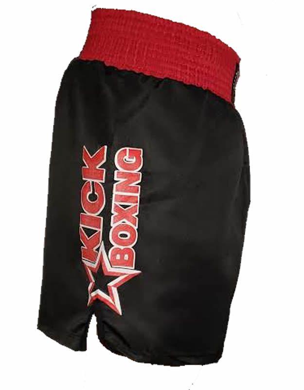 Calção Short Kickboxing Starfighter Preto Cintura Vermelha - Toriuk  - Loja do Competidor