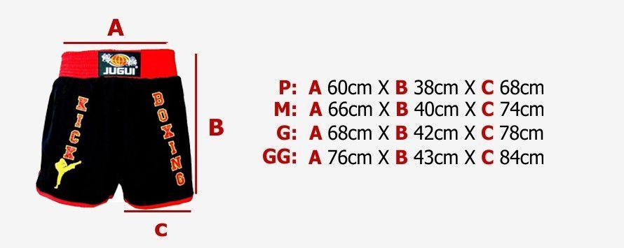 Calção Short Kickboxing - Unissex - Bordado - Jugui -  - Loja do Competidor
