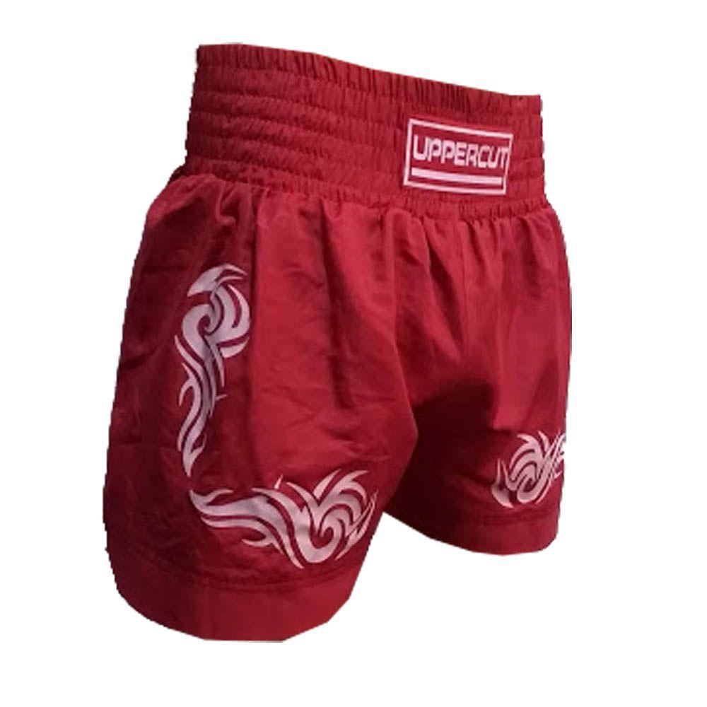 Calção Short Muay Thai - African Tribal - Vermelho - Uppercut