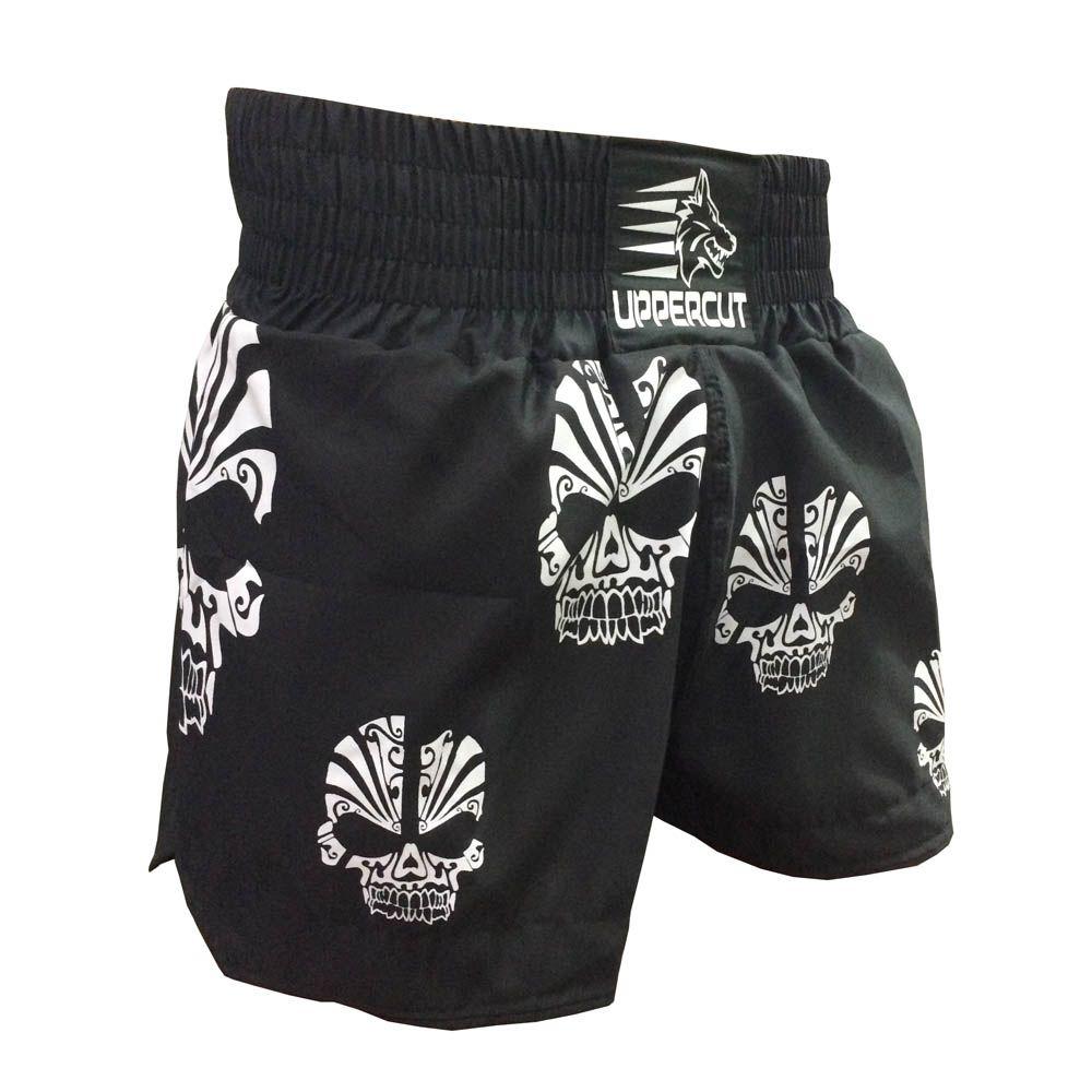 Calção / Short Muay Thai - Caveira - Unisex - Preto- Uppercut -  - Loja do Competidor