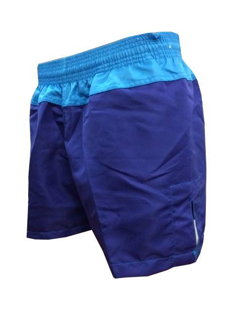 Calção / Short Muay Thai - Company V1 - Bordado - Azul/Azul Claro - Feminino  - Loja do Competidor