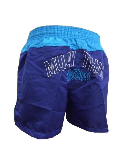 Calção / Short Muay Thai - Company - Bordado - Azul/Azul Claro - Feminino
