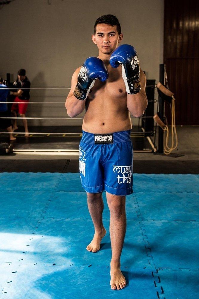 Calção / Short Muay Thai - Drago - Unissex - Azul - Predator .  - Loja do Competidor