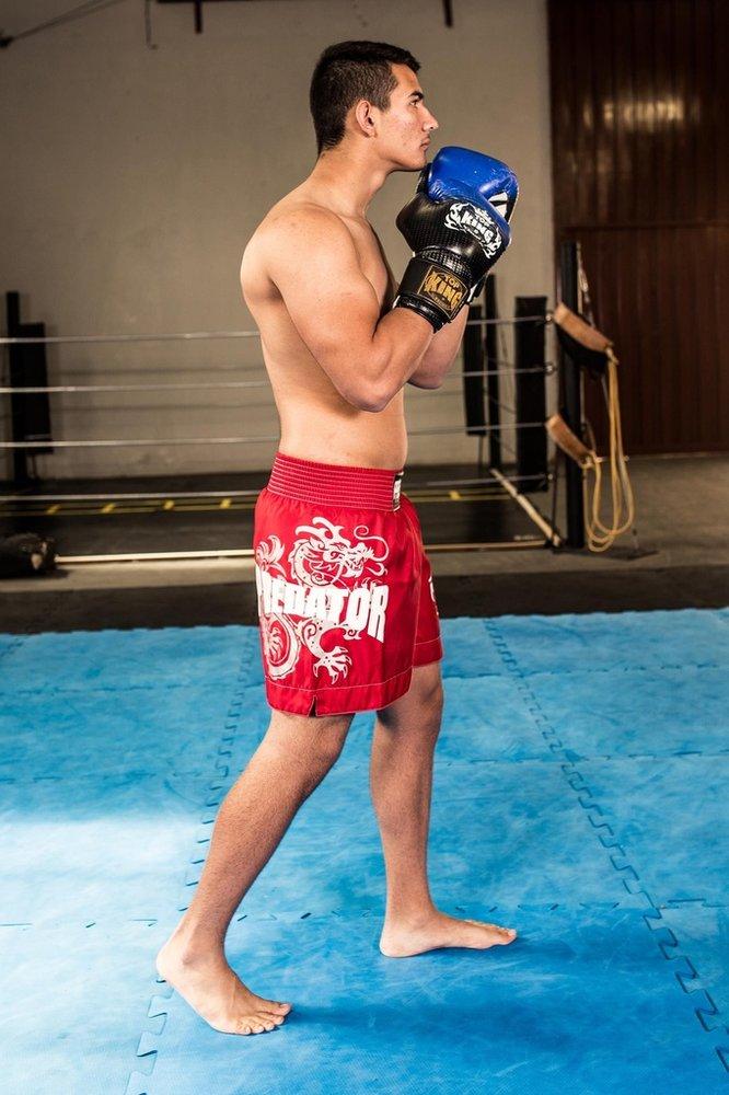Calção / Short Muay Thai - Drago - Unissex - Vermelho - Predator  - Loja do Competidor