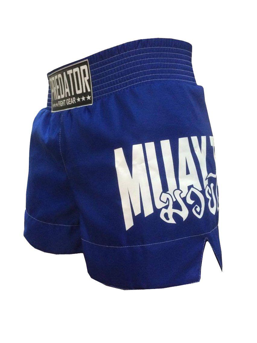 Calção / Short Muay Thai - Drago V2 - Unissex - Azul - Predator .