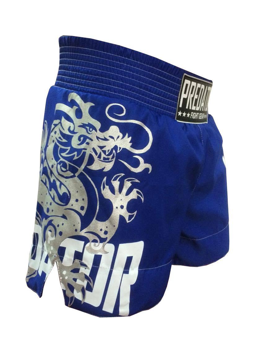 Calção Short Muay Thai - Drago V2 - Unissex - Azul - Predator -  - Loja do Competidor
