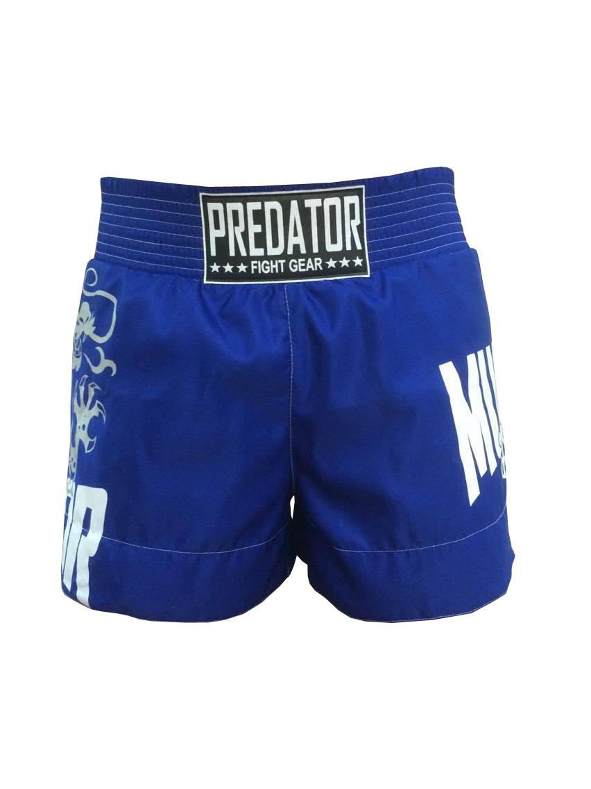 Calção / Short Muay Thai - Drago V2 - Unissex - Azul - Predator .  - Loja do Competidor