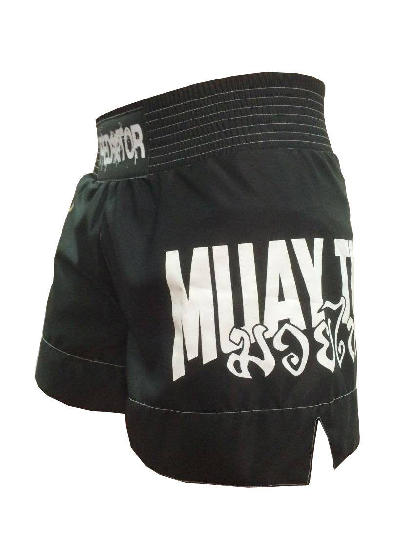 Calção / Short Muay Thai - Drago V2 - Unissex - Preto - Predator .
