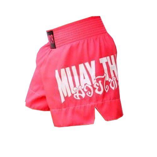 Calção Short Muay Thai - Drago V2 - Unissex - Rosa - Predator -