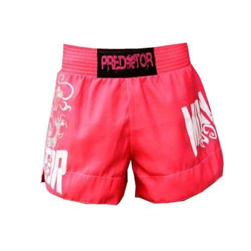 Calção Short Muay Thai - Drago V2 - Unissex - Rosa - Predator  - Loja do Competidor