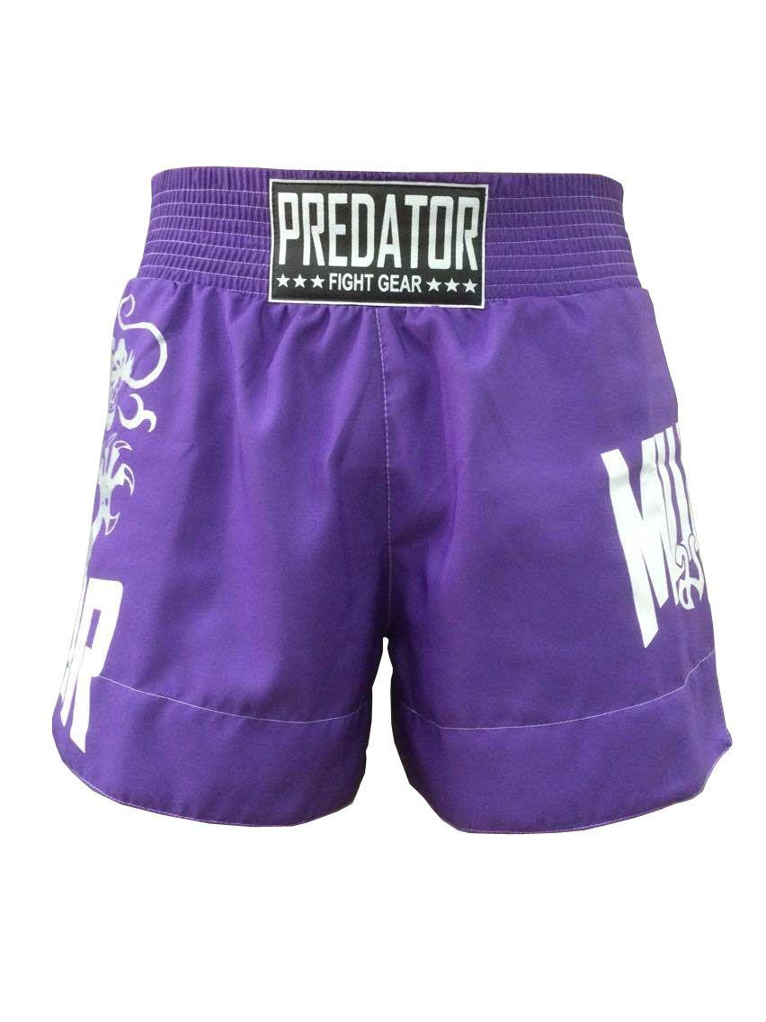 Calção Short Muay Thai - Drago V2 - Unissex - Roxo - Predator -  - Loja do Competidor