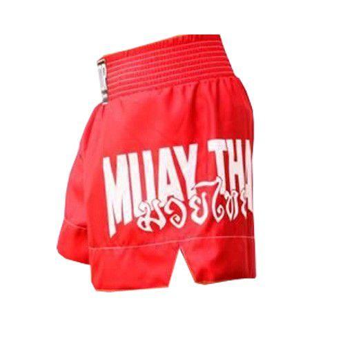 Calção Short Muay Thai - Drago V2 - Unissex - Vermelho- Predator -