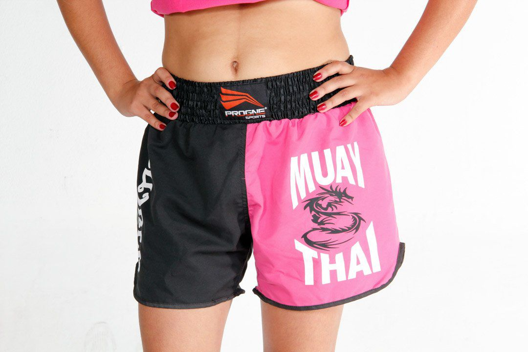 Calção / Short Muay Thai - Dragon - Progne - Feminino .