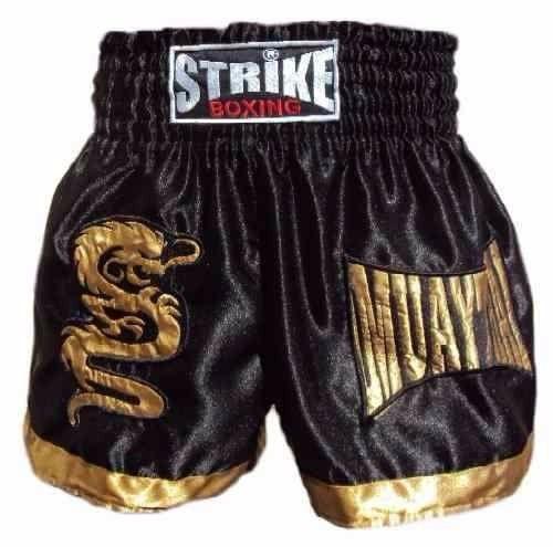 Calção / Short Muay Thai - Dragon Thai - Preto -  Strike .  - Loja do Competidor