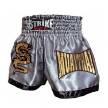 Cal��o / Short Muay Thai - Dragon Thai - Prata -  Strike