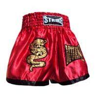 Calção / Short Muay Thai - Dragon Thai - Vermelho-  Strike .  - Loja do Competidor