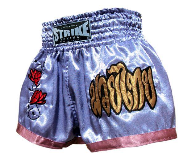 Calção / Short Muay Thai  - Feminino - Dragon Thai - Lilás-  Strike .  - Loja do Competidor