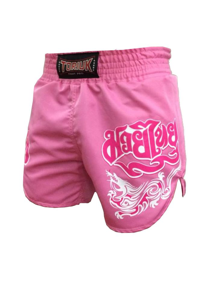 Calção / Short Muay Thai - Feminino -  Lady Pink - Cavado - Rosa - Toriuk .