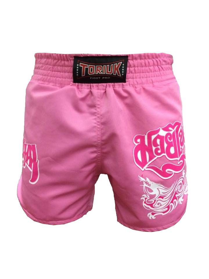 Calção Short Muay Thai - Feminino -  Lady Pink - Cavado - Rosa - Toriuk -  - Loja do Competidor