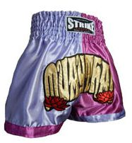 Calção / Short Muay Thai - Feminino - Treino - Lilás com Rosa - Strike .  - Loja do Competidor