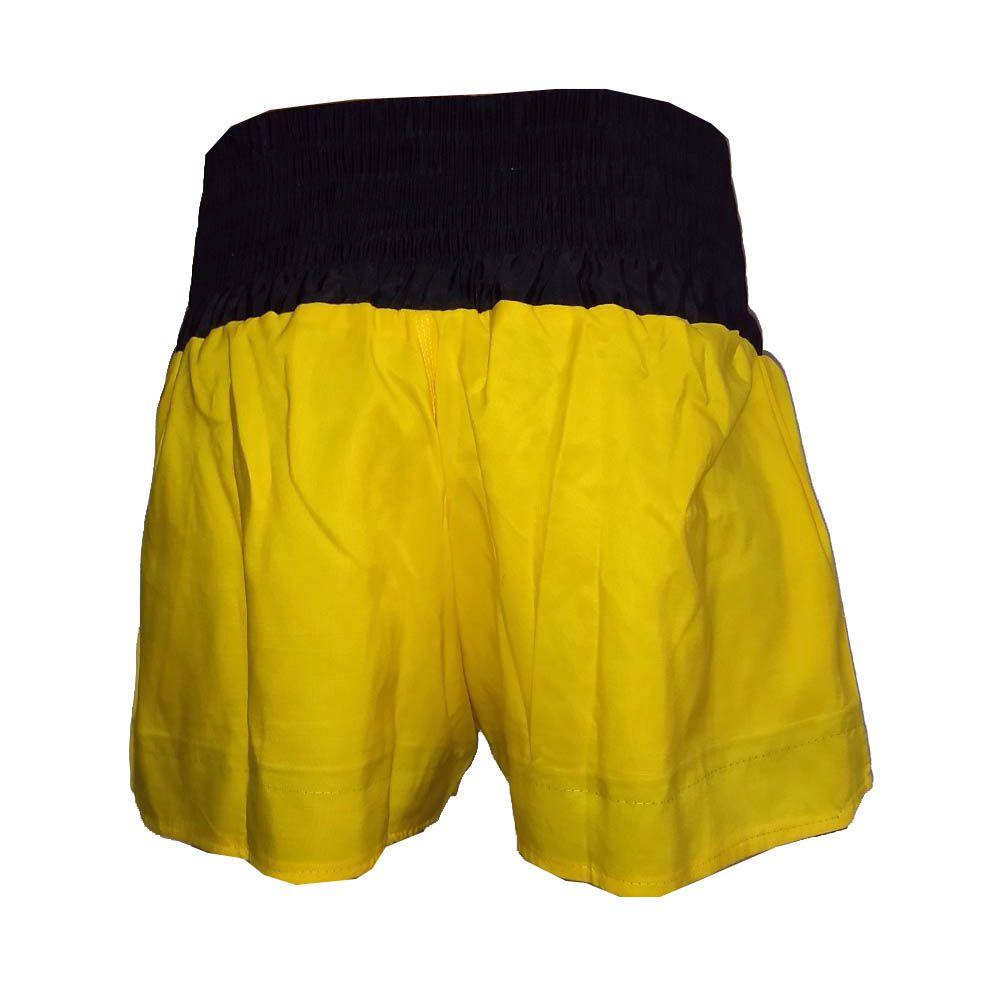 Calção Short Muay Thai - Fênix Negra- Preto/Amarelo- Uppercut  - Loja do Competidor
