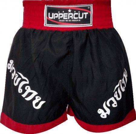 Calção / Short Muay Thai - Fighter - Preto/Vermelho - Uppercut .  - Loja do Competidor