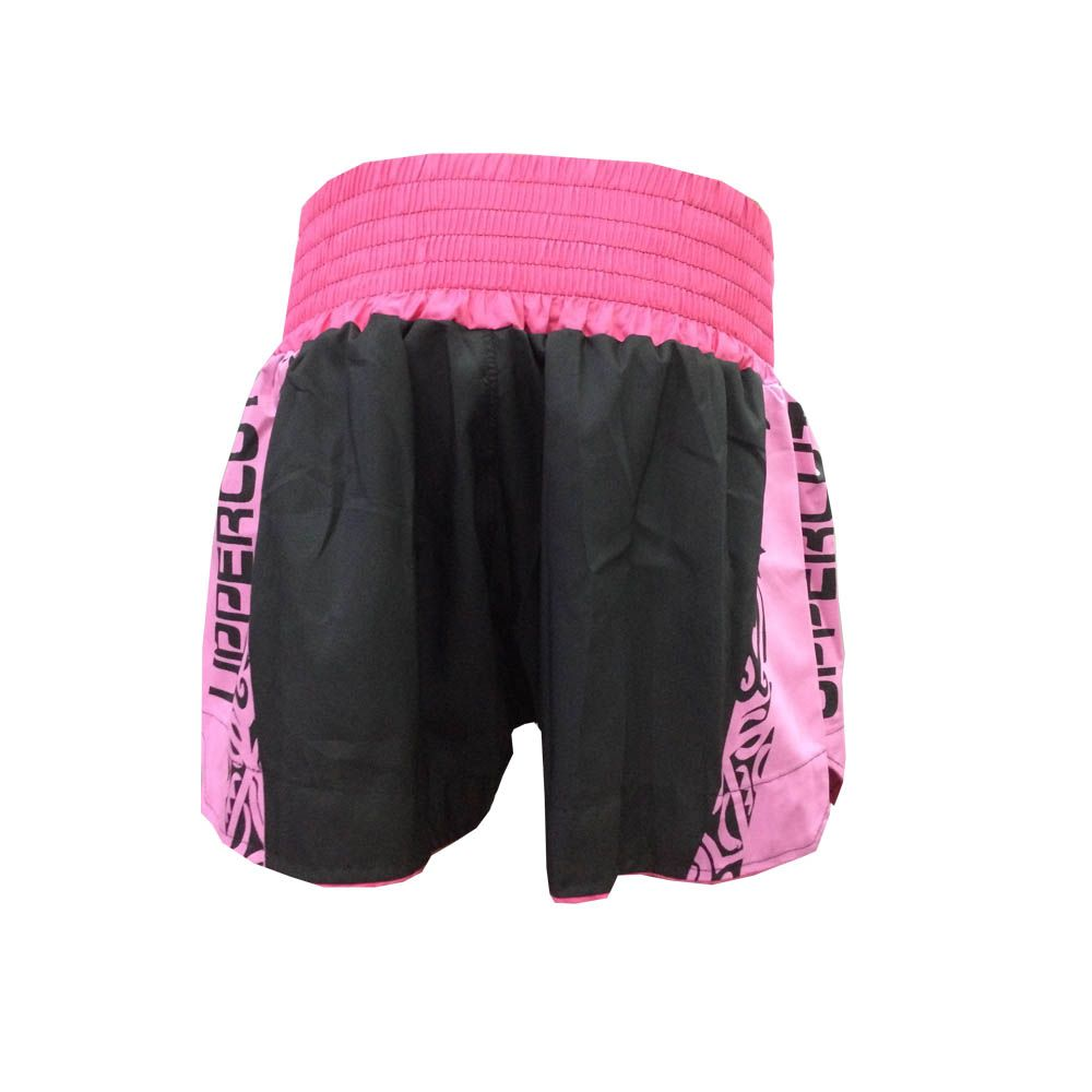 Calção Short Muay Thai / Kickboxing- Claw V2 - Preto/Rosa- Uppercut -  - Loja do Competidor