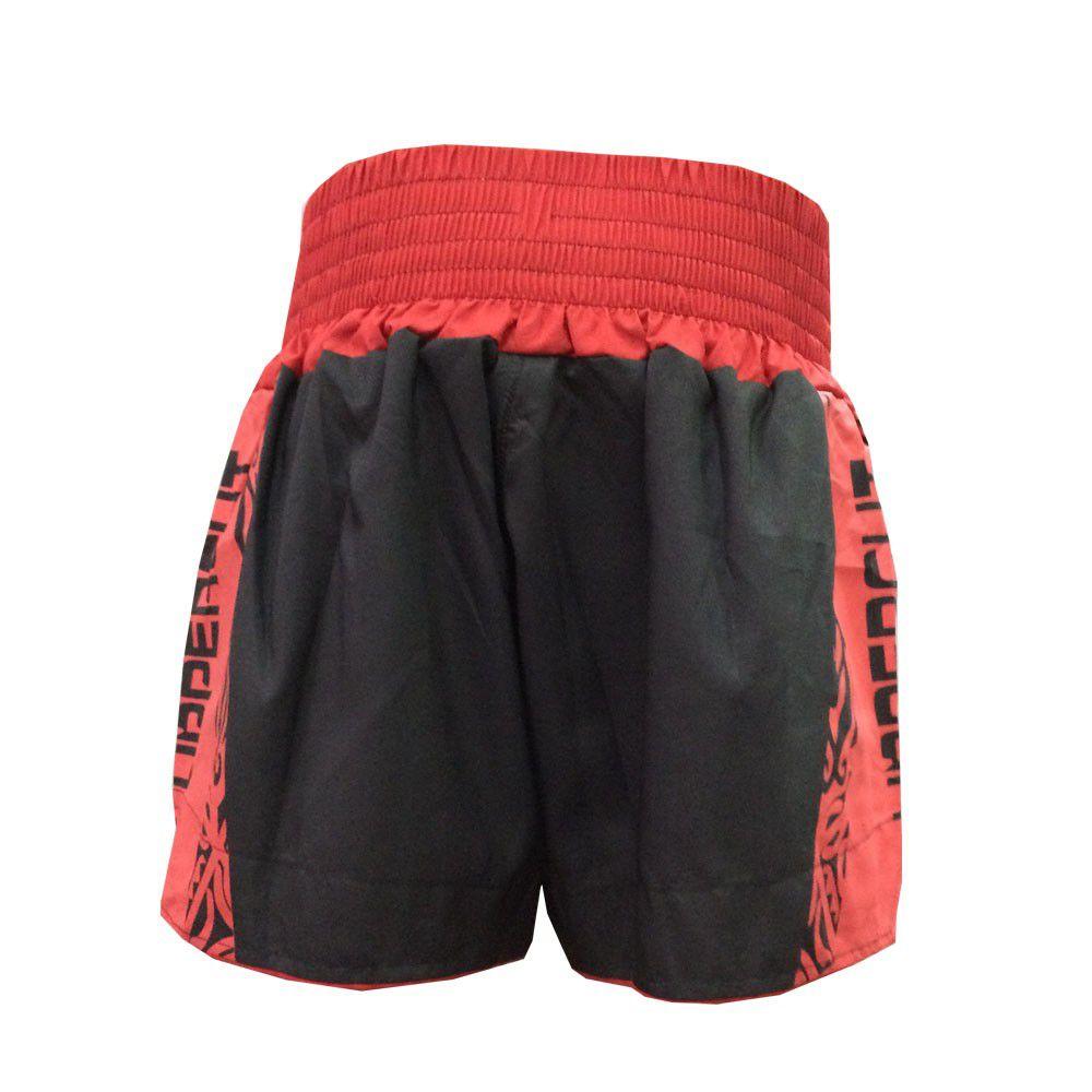 Calção Short Muay Thai / Kickboxing- Claw V2 - Vermelho/Preto- Uppercut -  - Loja do Competidor