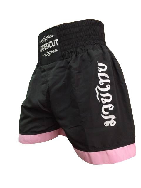 Calção Short Muay Thai - Knockout II - Preto/Rosa- Uppercut