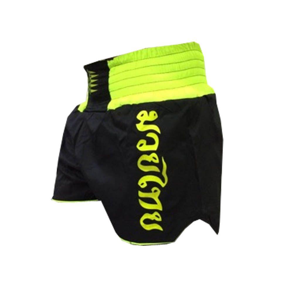 Calção / Short Muay Thai - Knockout - Preto/Verde Neon  - Uppercut
