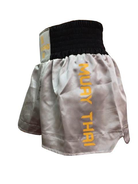 Calção Short Muay Thai - Kruang - Preto/Cinza - Uppercut -