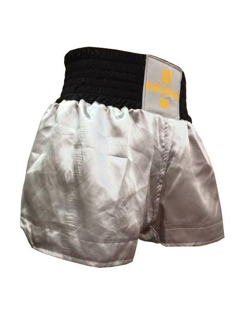 Calção Short Muay Thai - Kruang - Preto/Cinza - Uppercut  - Loja do Competidor